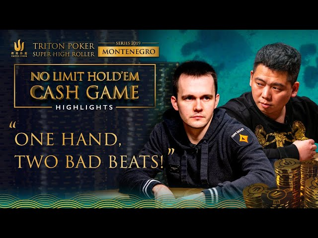 Incredible $1.3m Double Bad Beat in Cash Game from Triton Poker Montenegro 2019