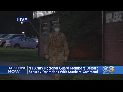 New Jersey Army National Guard Depart Cherry Hill For 9-Month Mobilization In Florida