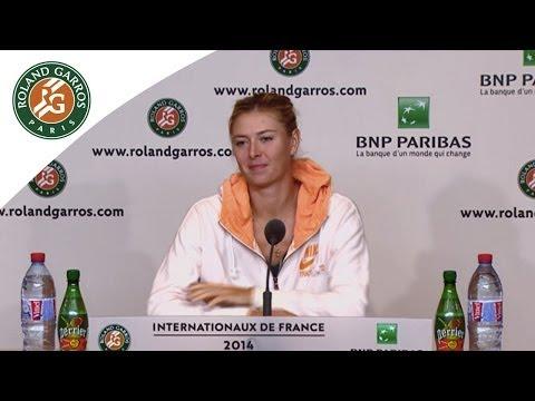 Press conference Maria Sharapova 2014 French Open R2
