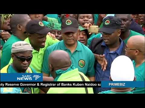 AMCU members march to the Union Buildings