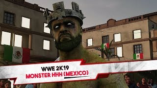 """WWE 2K19 """"Monster"""" Triple H Gameplay vs King Booker (Mexico Plaza NEW Arena)"""