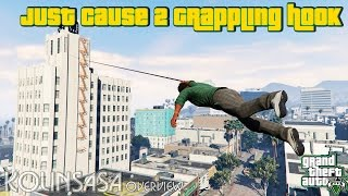 GTA 5 Just Cause 2 Grappling hook v1.3.1 - Крюк-кошка
