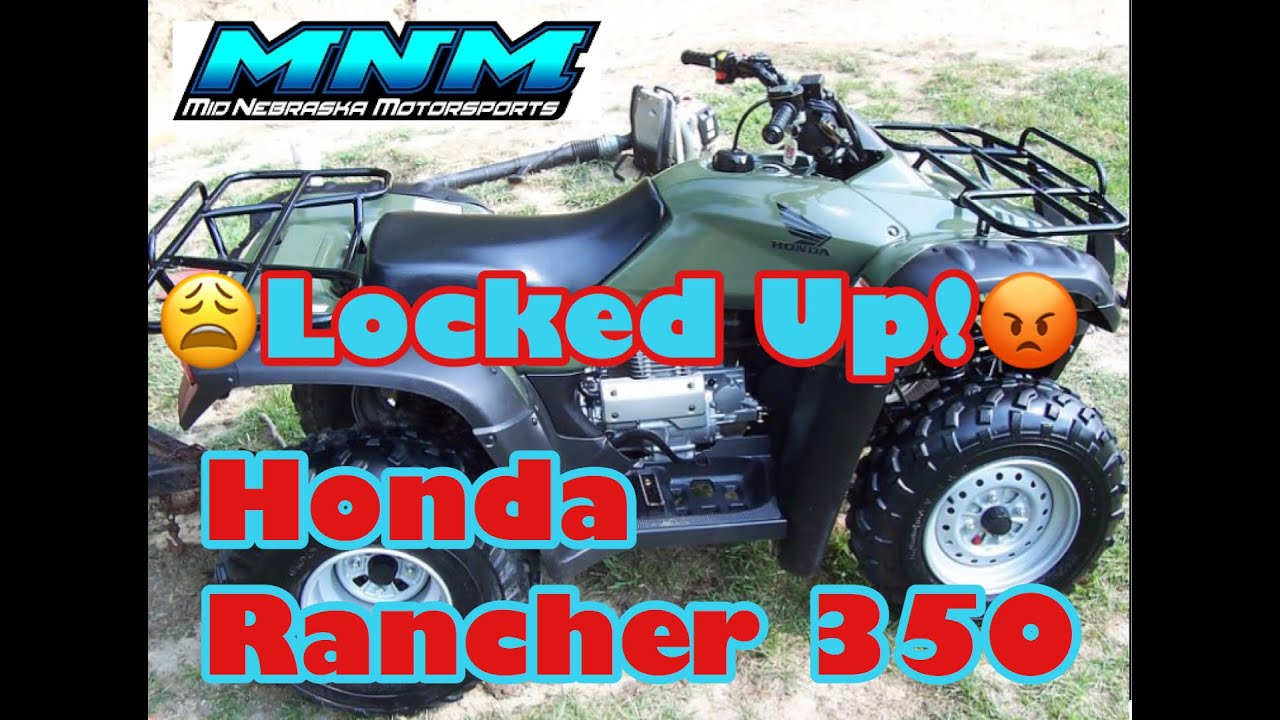 hight resolution of complete honda rancher trx 350 es 4x4 engine tear down motor rebuild video 1 3