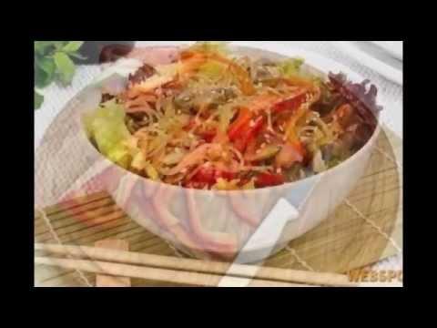 Салат фунчоза с грибами рецепт