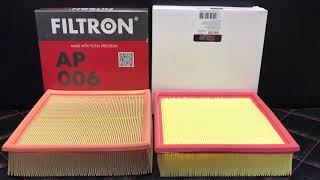 Обзор сравнение на воздушный фильтр Filtron  Польша  и Miles