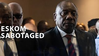 While addressing reporters at Eskom's headquarters at Megawatt Park in Sandton following an emergency meeting with ministers and the Eskom board and management, President Cyril Ramaphosa said one of the factors that led to the recent rolling power cuts was sabotage.