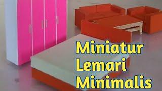 Membuat Miniatur Lemari Minimalis