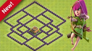 Clash of Clans - Cv8 O melhor layout anti estrela - TH8 Base Anti Star - 2019