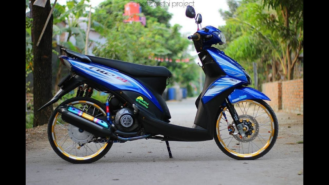 Download Koleksi 90 Modifikasi Mio J Biru Terbaik Kurama Motor