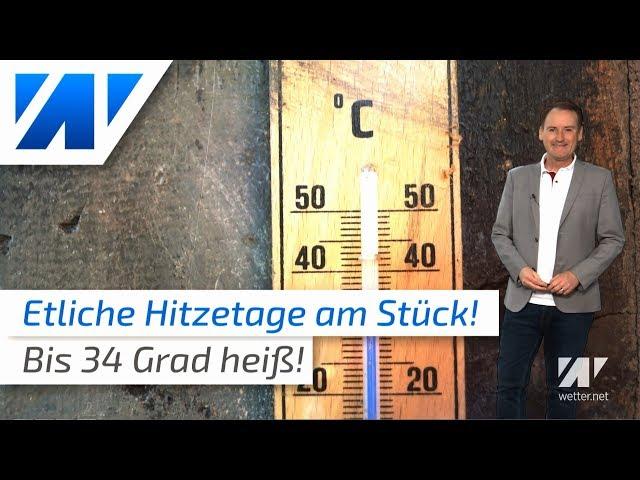 Die Hitze kehrt zurück: bis 34°C!