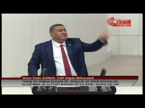 CHP NİĞDE MİLLETVEKİLİ ÖMER FETHİ GÜRER MECLİS KONUŞMASI-16 ARALIK 2019