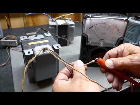 Vacuum Tube Output Transformer Measurements Determining Turn