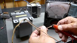 Vacuum Tube Output Transformer Measurements Determining Turns & Impedance Ratio & Matching To Tubes
