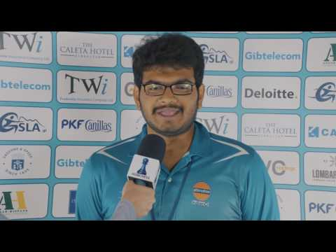 Round 10 Gibraltar Chess post-game interview with Lalith Babu