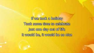 Madonna - Holiday, Lyrics In Video