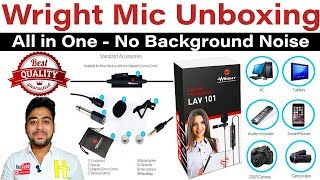 Wright LAV 101 Omnidirectional Lapel Lavalier Microphone || Unboxing and Review || Hindi