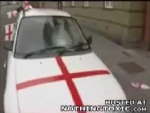 English Car Parked In Glasgow Scotland Lol