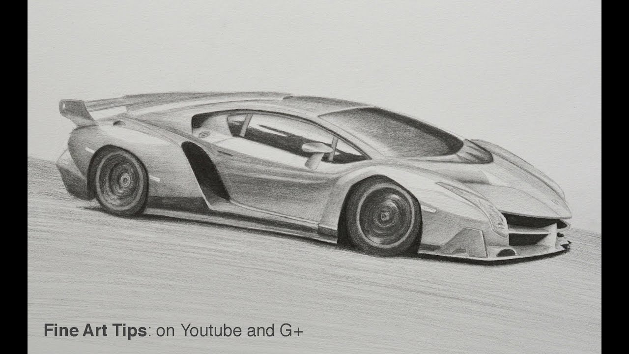 How To Draw A Lamborghini Veneno Youtube