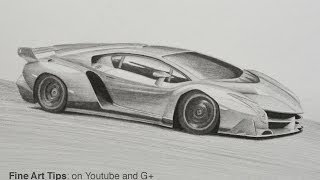 How to Draw a Lamborghini Veneno(Visit me on FB: https://www.facebook.com/LeonardoPereznieto Follow Fine Art Tips on Google+: http://goo.gl/TqsmiJ Visit my website: ..., 2013-11-26T16:00:00.000Z)