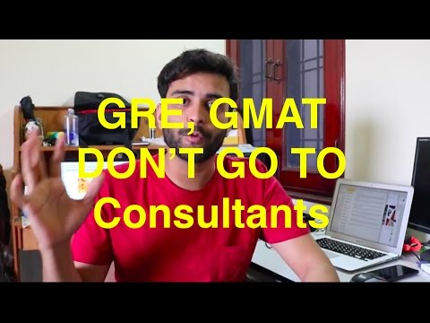 Don't go to Consultants for GRE, GMAT etc | MS in US