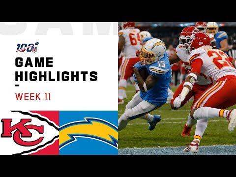 Смотреть клип Chiefs vs. Chargers Week 11 Highlights   NFL 2019 онлайн бесплатно в качестве