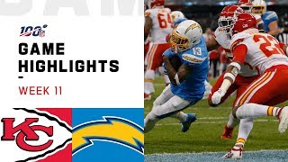 Download Chiefs vs. Chargers Week 11 Highlights | NFL 2019 Mp3 and Videos