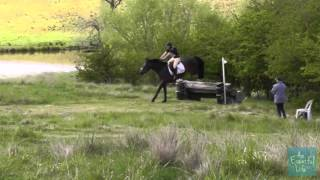 STACEY BRIGGS riding LITTLE NAPOLEON 219 EVA 105 Baxter Boots Lynton Horse Trials 2012