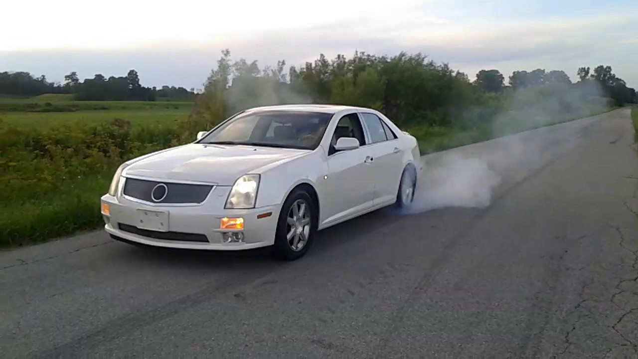 2005 Cadillac Sts Burnout Youtube