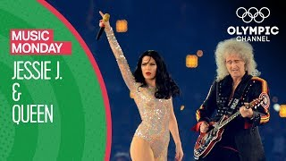 YzoyDILKlhY Singer Jessie J joins Queen on stage at the Closing Cer...