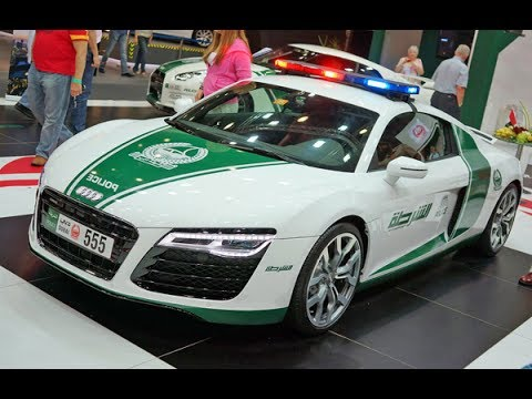 Dubai Police Car Audi R8
