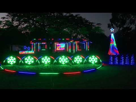 """2019 Christmas Lights To Music """"Ding Dong Merrily On High"""""""