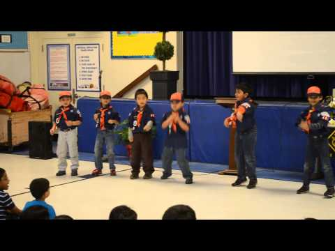 Tiger Cubscout dancing to Roar
