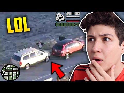 ESTE CHICO CREE QUE ESTÁ DENTRO DE GTA - GRAND THEFT AUTO V - GTA SAN ANDREAS
