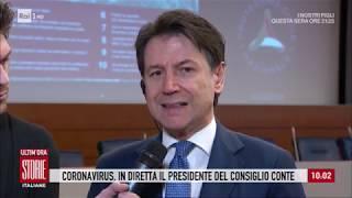 Coronavirus, in diretta il Presidente del Consiglio Giuseppe Conte - Storie italiane 25/02/2020