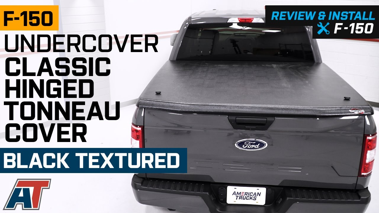 2015 2019 F150 Undercover Classic Hinged Tonneau Cover Black Textured Review Install Youtube