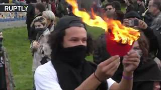 В Беркли произошли столкновения между сторонниками и противниками Трампа