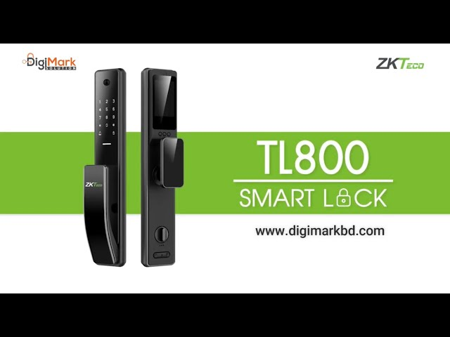 ZKTeco Wi-Fi Smart Digital Lock with Built-in Doorbell | TL800 | Digi-Mark Solution