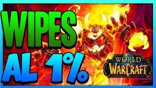 INCREÍBLES WIPES AL 1% EN WORLD OF WARCRAFT [REACCIONES] WOW
