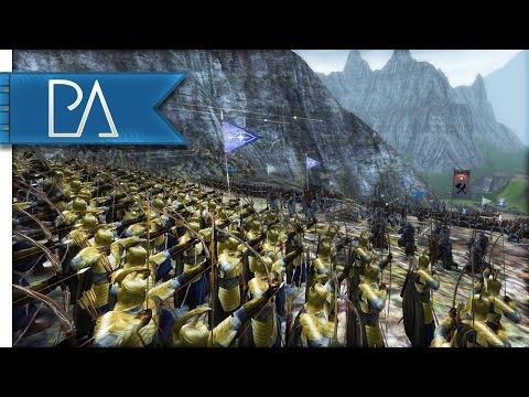 AMAZING ELVEN LAST STAND - Third Age Total War Gameplay