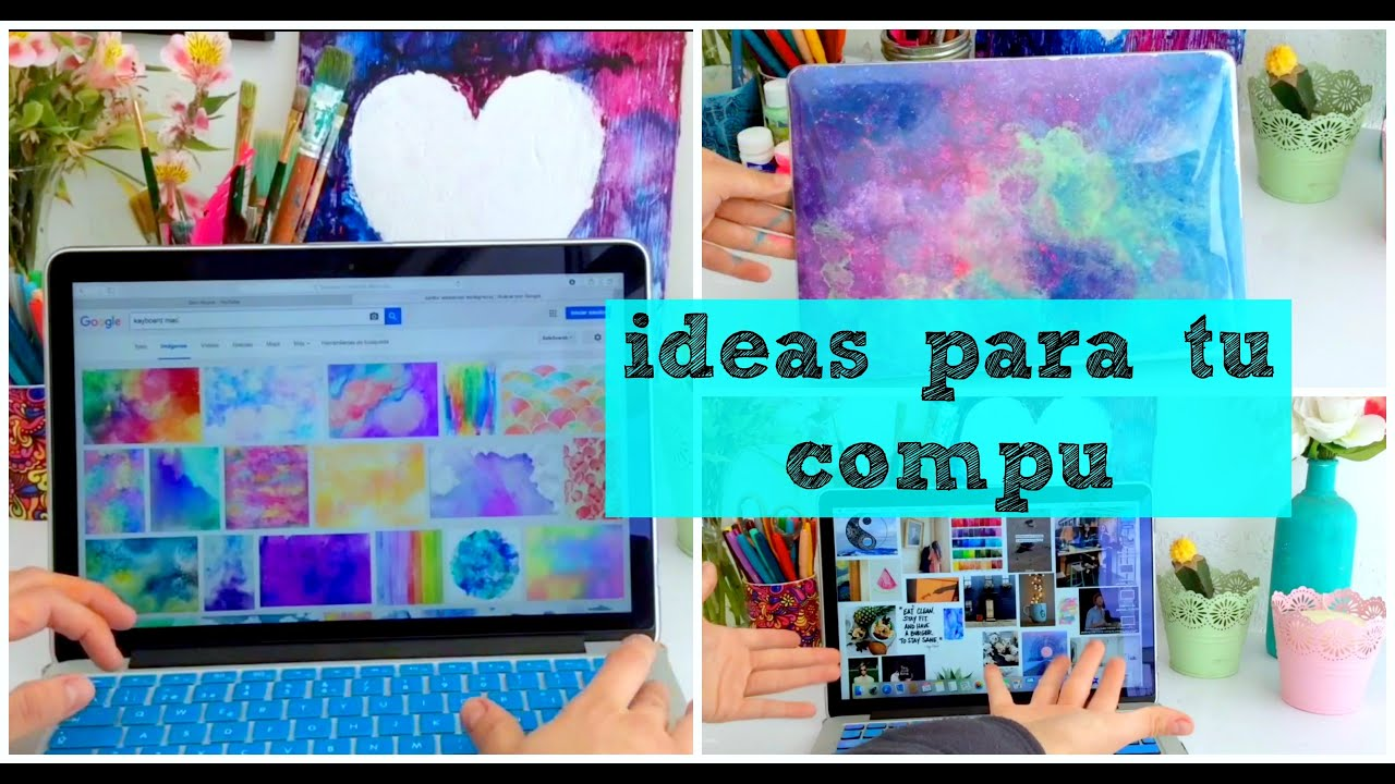 Ideas para tu computadora diy dani hoyos art youtube - Como decorar mis fotos ...