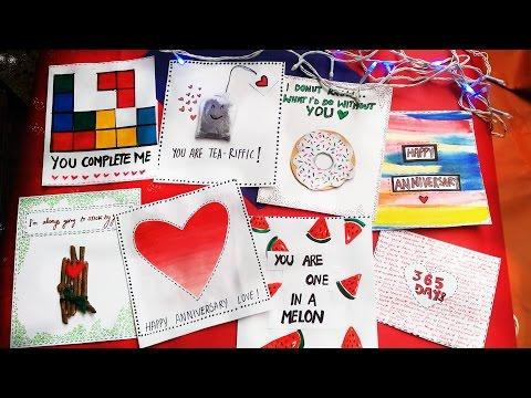 8 Easy Greeting Cards your Boyfriend will Love! 😍  [ DIY VALENTINE'S CARD 💕 ]