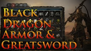 Dark Souls 2: Black Dragon Armor and Greatsword Guide | Rank up Dragon Remnants OFFLINE