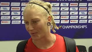 Eliška Staňková po kvalifikaci disku na ME 2018