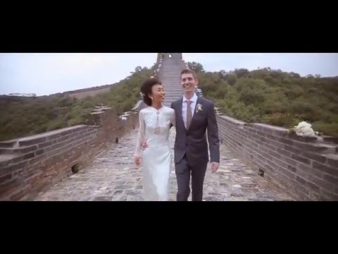 Fashion Forward Bride Gets Married at The Great Wall in China