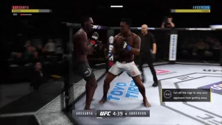 Celeste Anderson vs. ISRAEL ADESANYA UFC  middle weight championship