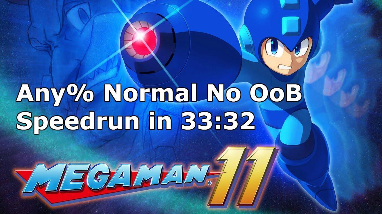 Qttsix|Mega Man 11 Any% Normal No OoB Speedrun in 33:32 WR in 2018/12/25