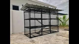 DIY cat cage using PVC pipe