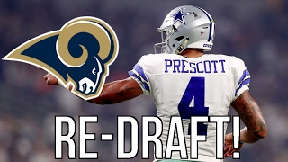 2016 NFL Mock Re-Draft/Do-Over - Dak Prescott goes #1 to the Los Angeles Rams and More! Free HD Video