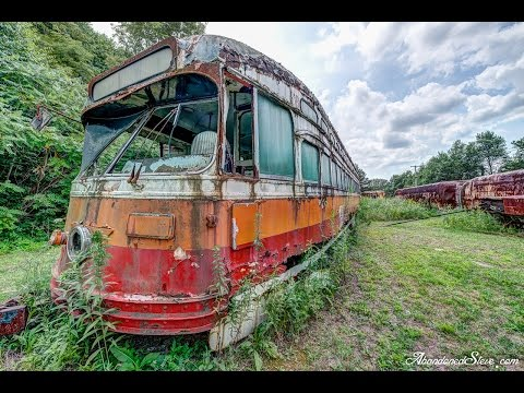Urban Exploration - ABANDONED - Trolley Streetcar Graveyard