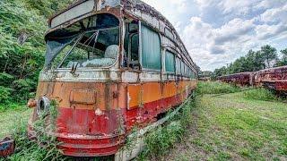 Urban Exploration - ABANDONED - Trolley Streetcar Graveyard